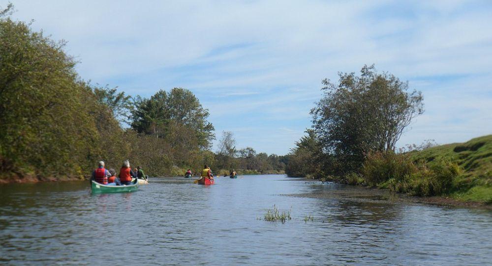 Below Lovett Rd - wide river