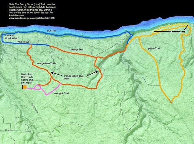 Trail Map for Black Rock Community System